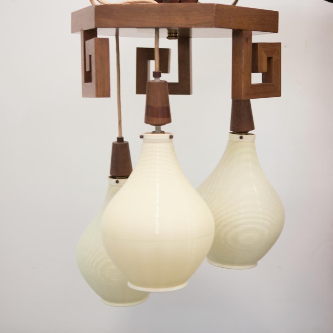 Mid-Century Modern Lantern Chandelier, Chinoiserie
