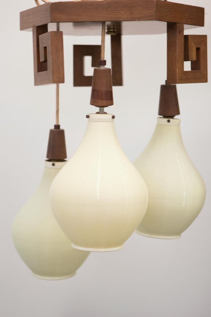Mid-Century Modern Lantern Chandelier, Chinoiserie - 2