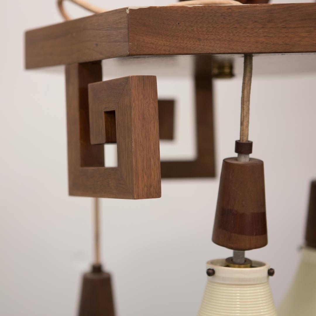 Mid-Century Modern Lantern Chandelier, Chinoiserie - 3