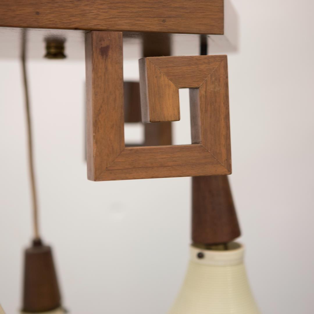 Mid-Century Modern Lantern Chandelier, Chinoiserie - 4
