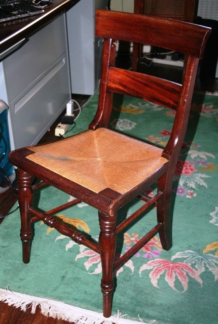 3003: Fruitwood Grecian Style Side Chair