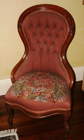 3004: Victorian Slipper Chair Original Needlepoint