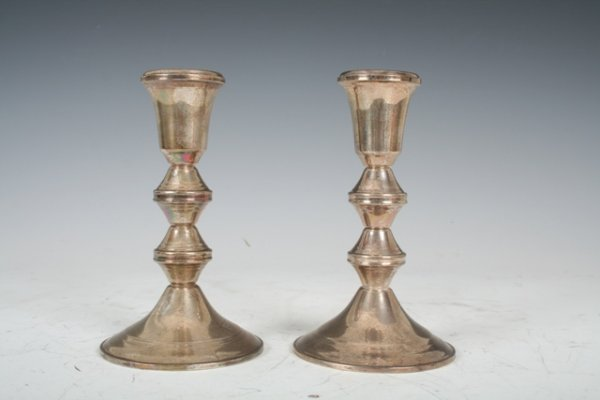 3023: Pair of Duchin Sterling Silver Candlesticks