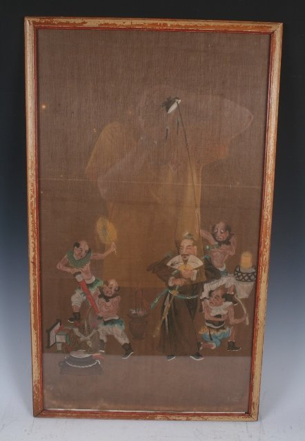 3459: Early Qing Dynasty Chinese Painting of a Diety