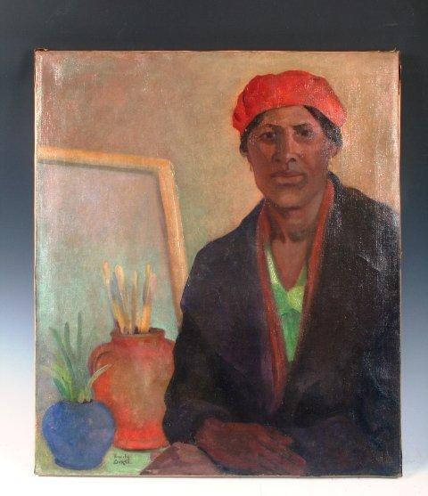 3506: New York WPA Artist Emily Barto Painting 1930
