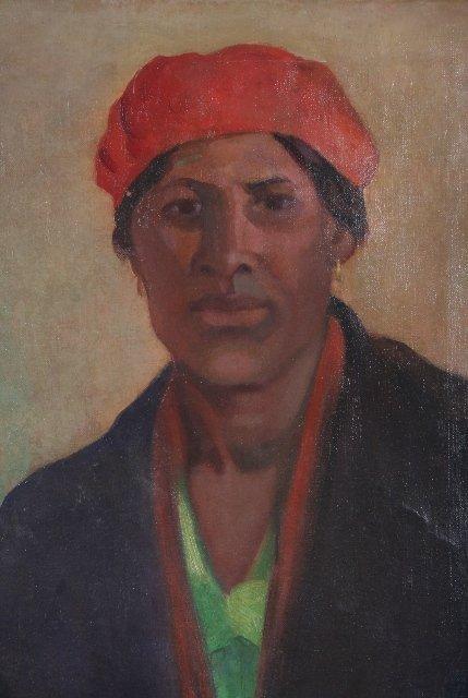 3506: New York WPA Artist Emily Barto Painting 1930 - 2
