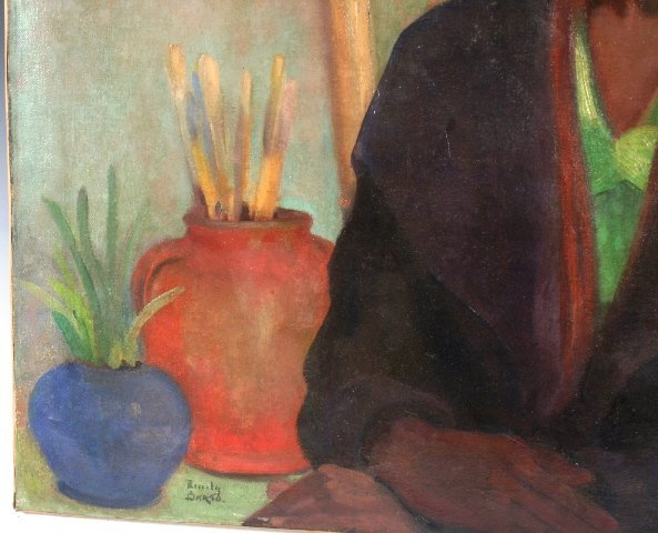 3506: New York WPA Artist Emily Barto Painting 1930 - 3