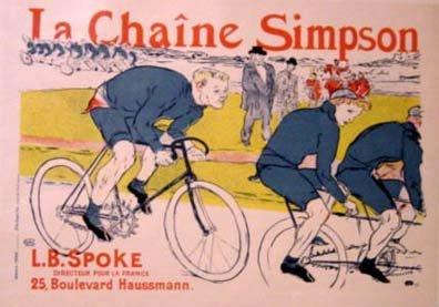 """3557: Toulouse-Lautrec """"La Chaine Simpson""""  Poster 1896"""