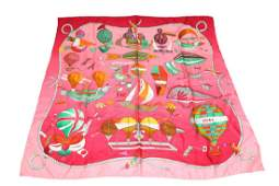 Hermes Silk Scarf Les Folies du Ciel Vintage