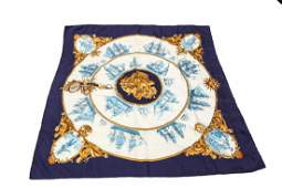 Hermes Silk Scarf Silhouettes Navales Vintage