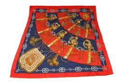 Hermes Silk Scarf Cliquetis Vintage