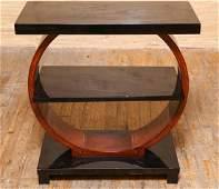 Art Deco Paul Frankl-Manner Side Table, Mahogany