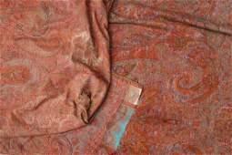 Antique Scottish Wool & Silk Shawl, 19th C.