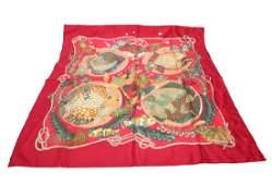 Hermes Silk Scarf Grands Fonds Vintage