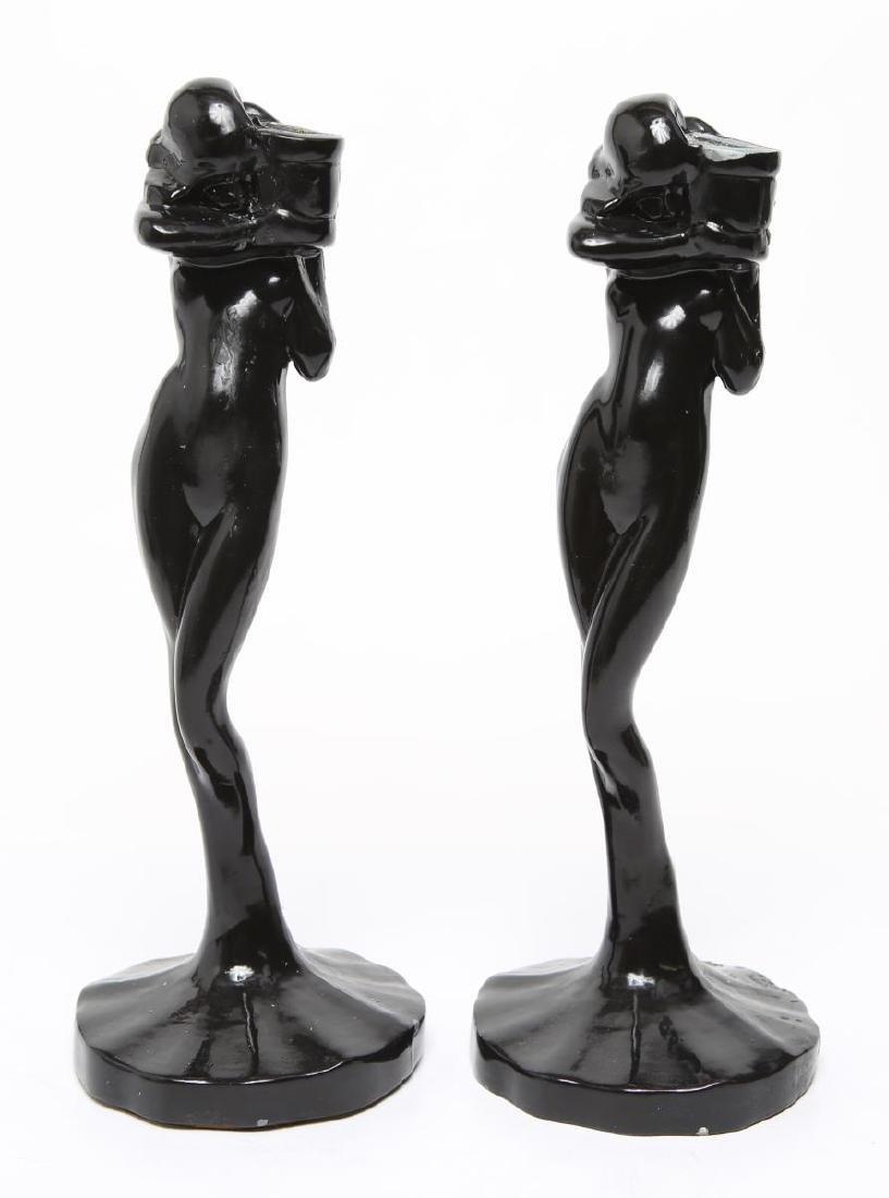 "Frankart Art Deco ""Standing Nude"" Candlesticks, Pr"