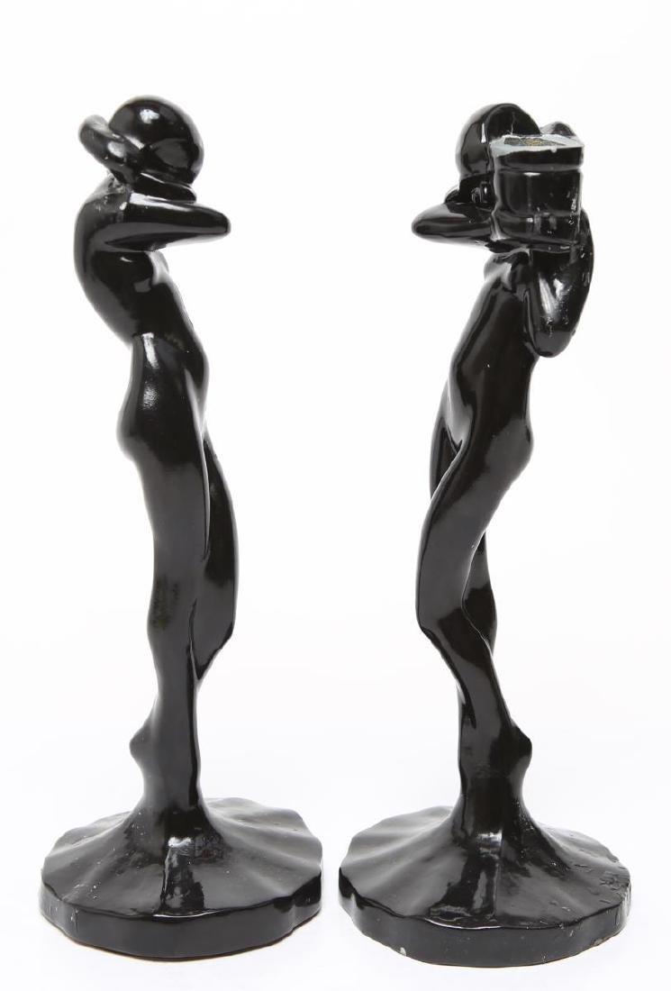 "Frankart Art Deco ""Standing Nude"" Candlesticks, Pr - 2"