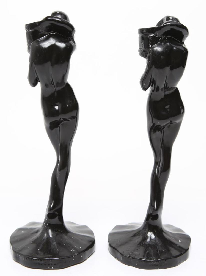 "Frankart Art Deco ""Standing Nude"" Candlesticks, Pr - 3"