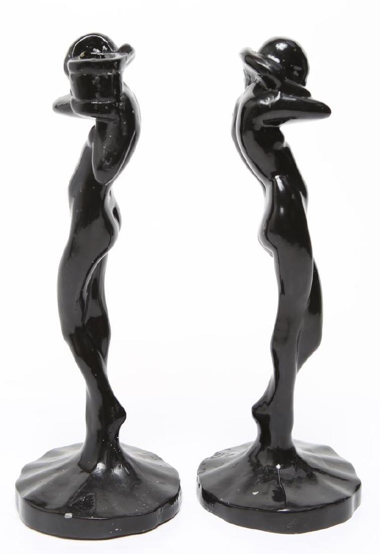"Frankart Art Deco ""Standing Nude"" Candlesticks, Pr - 4"