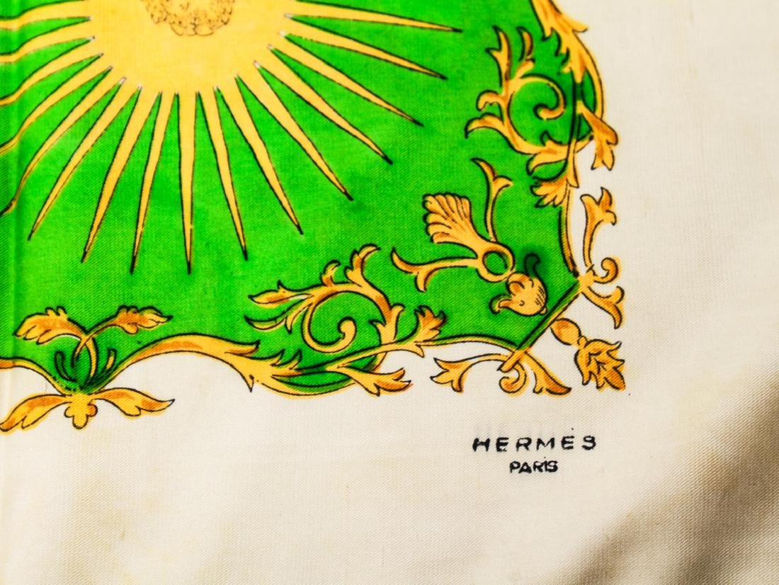 "Hermes Silk Scarf ""Anneau de Cavaliers,"" Vintage - 2"