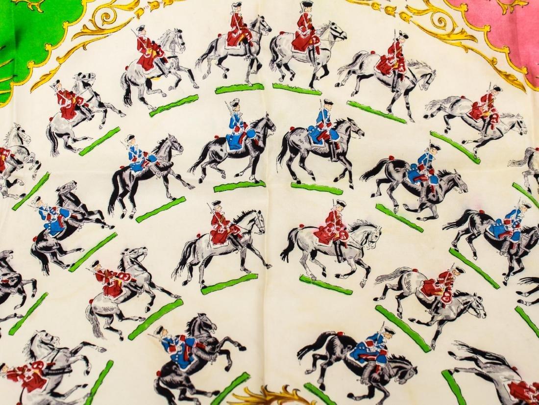 "Hermes Silk Scarf ""Anneau de Cavaliers,"" Vintage - 3"
