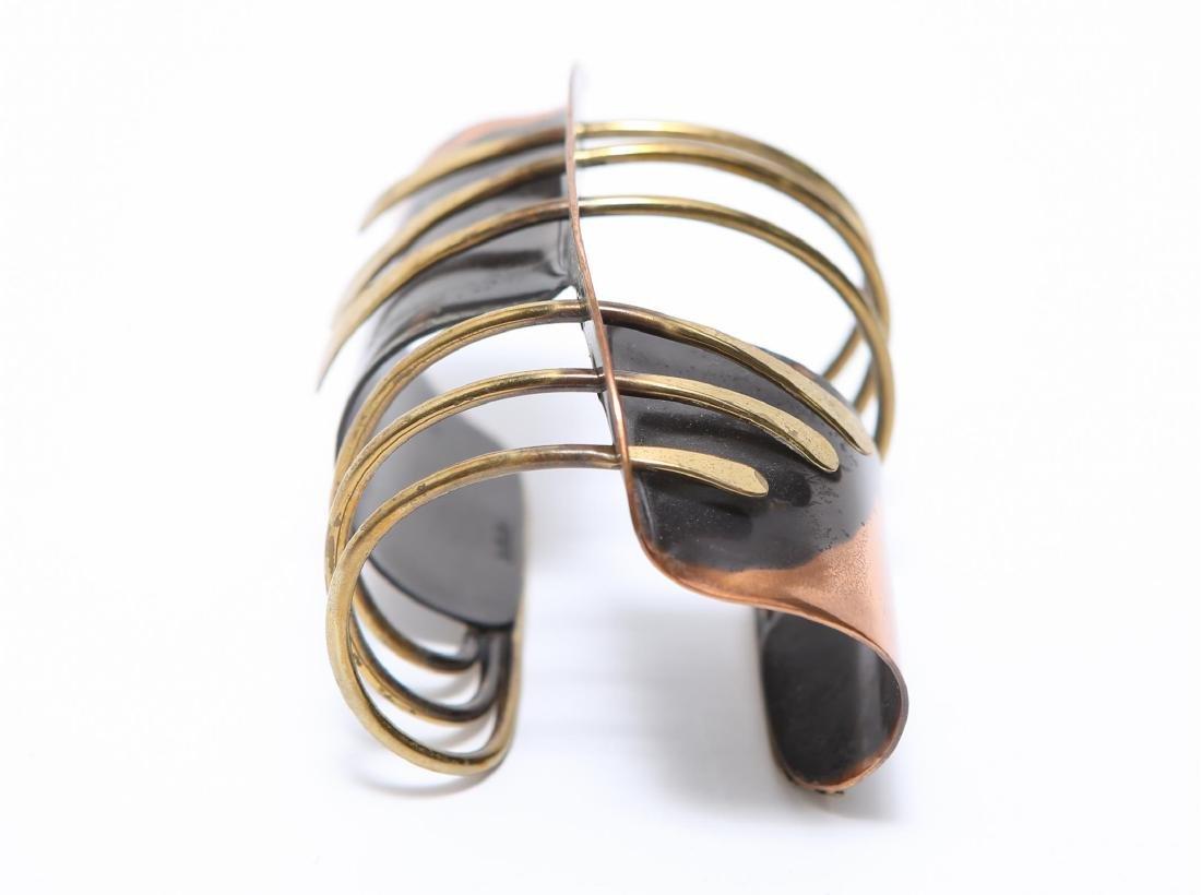 Art Smith Modernist Cuff Bracelet-Mixed Metal
