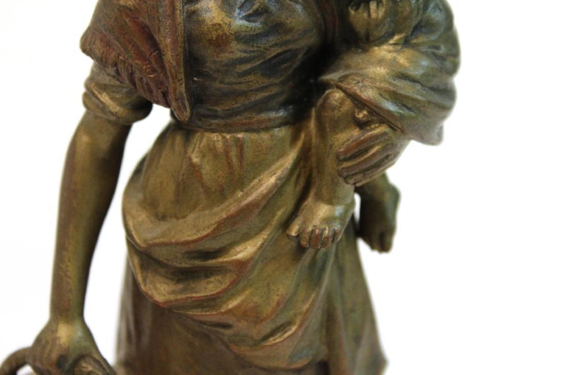"""Carl Kauba, """"Mother & Child"""" Bronze Sculpture - 10"""