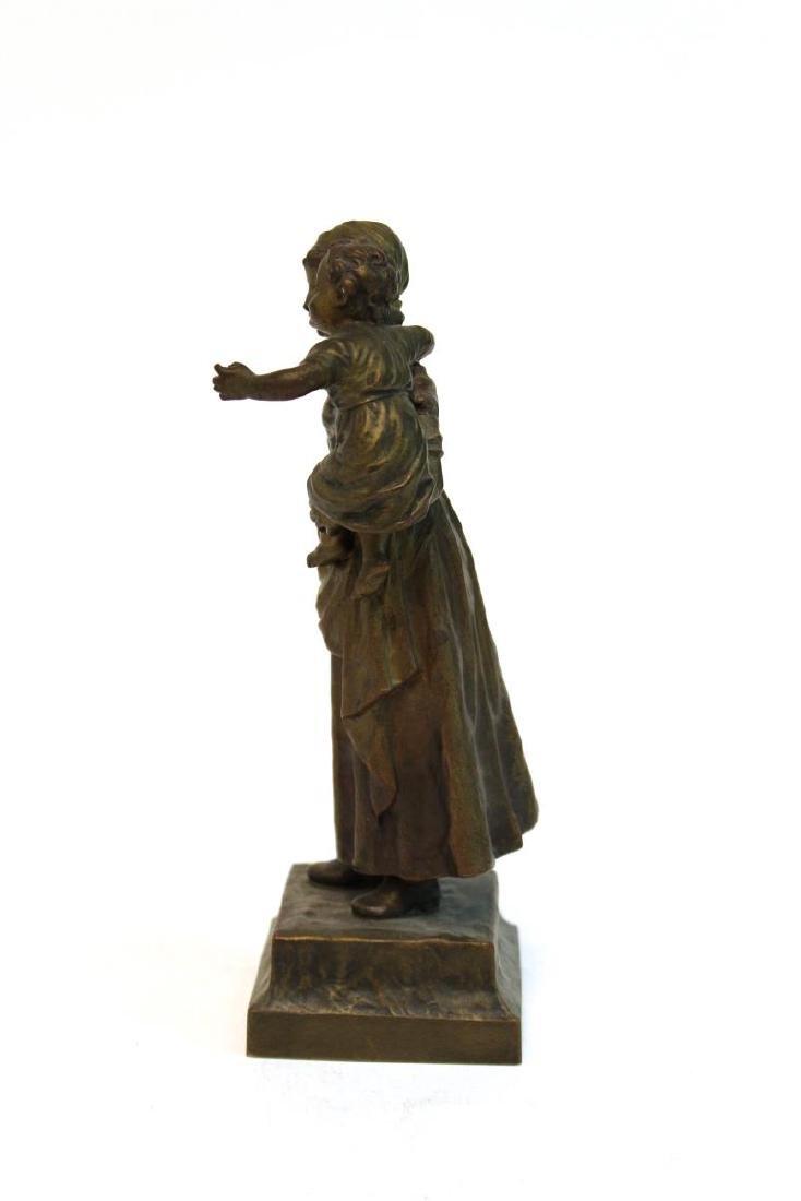 """Carl Kauba, """"Mother & Child"""" Bronze Sculpture - 3"""