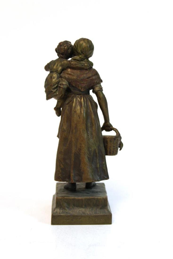 """Carl Kauba, """"Mother & Child"""" Bronze Sculpture - 4"""