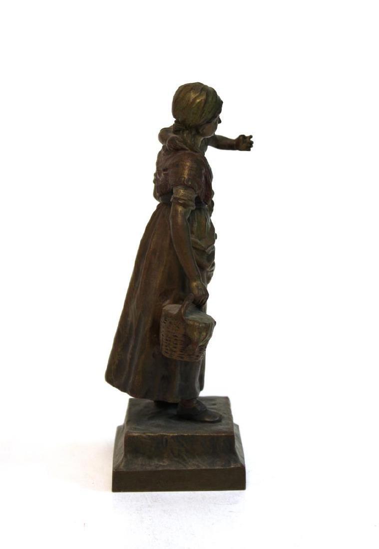 """Carl Kauba, """"Mother & Child"""" Bronze Sculpture - 5"""