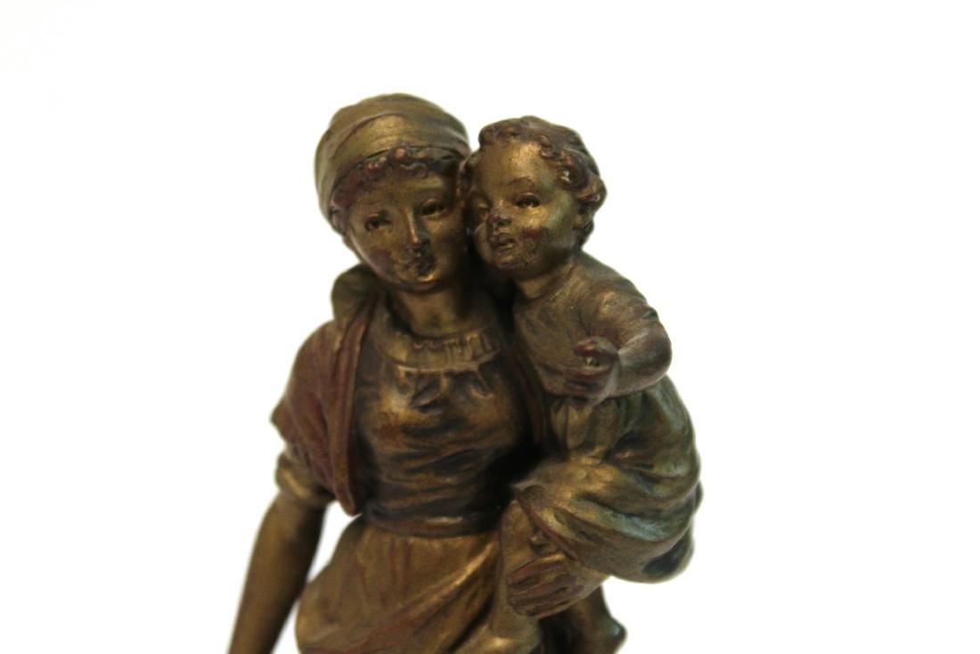 """Carl Kauba, """"Mother & Child"""" Bronze Sculpture - 6"""