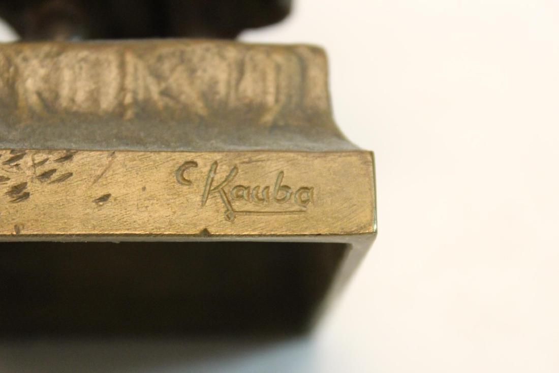 """Carl Kauba, """"Mother & Child"""" Bronze Sculpture - 8"""