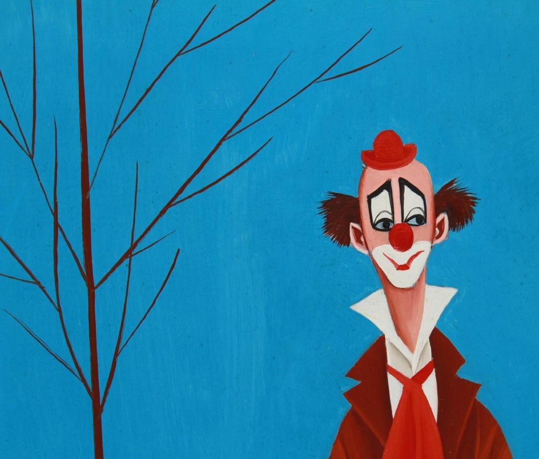 Veniero Canevari Clown & Tree Oil on Board - 3