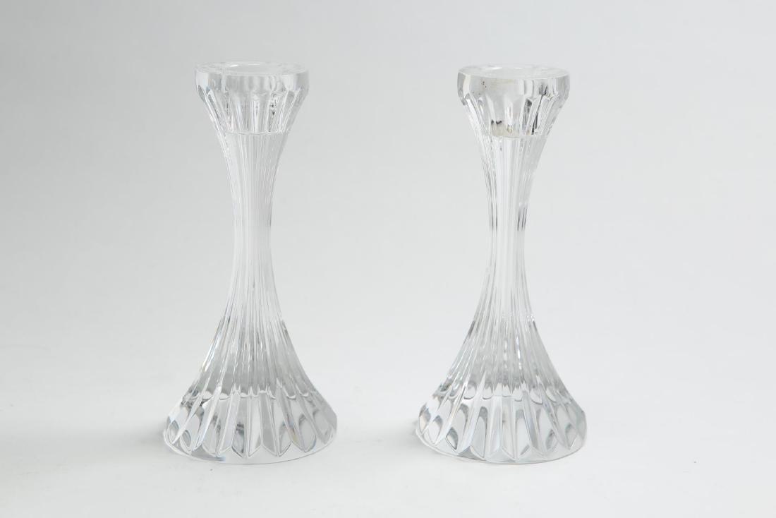 "Baccarat Crystal ""Massena"" Candlesticks, Pair"