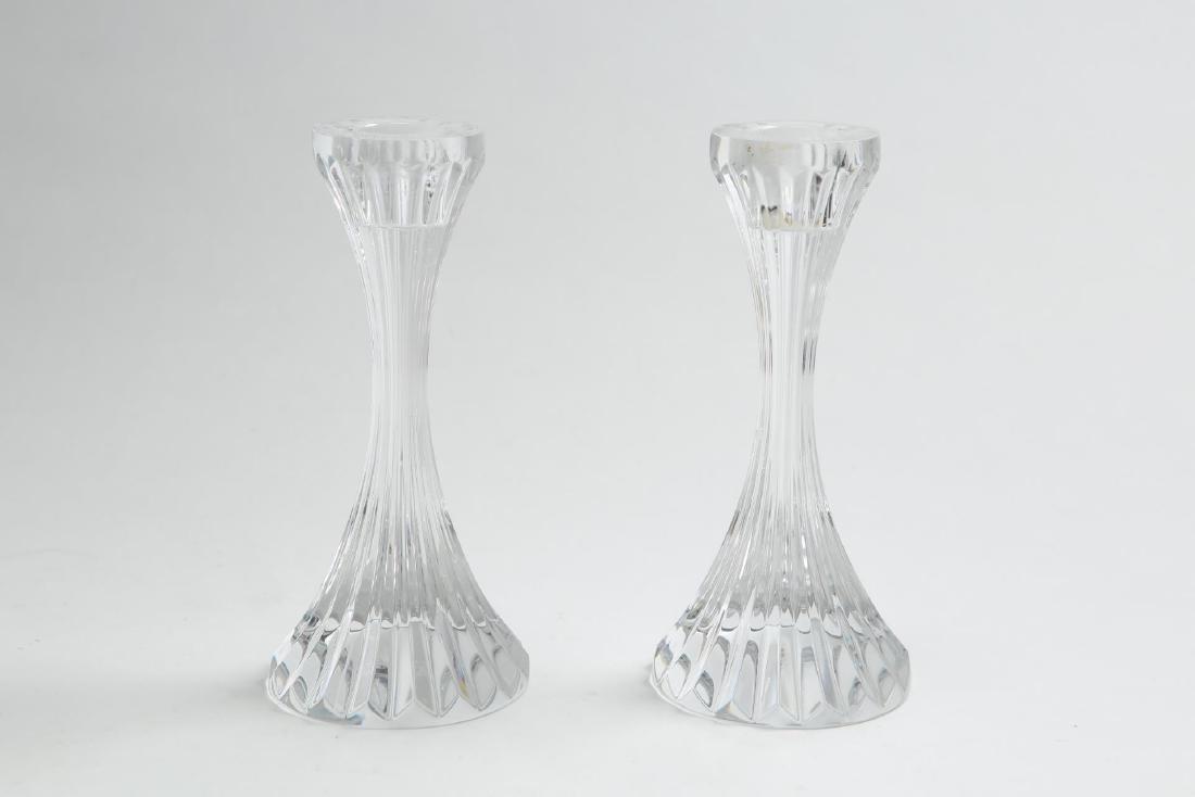 "Baccarat Crystal ""Massena"" Candlesticks, Pair - 2"
