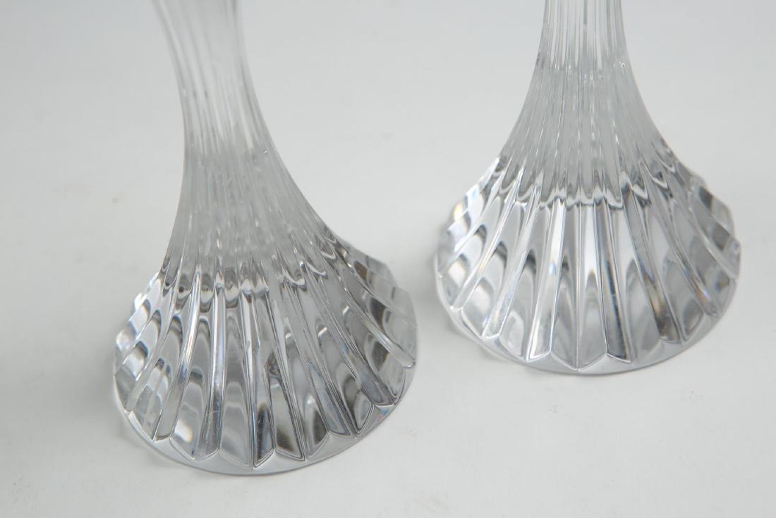"Baccarat Crystal ""Massena"" Candlesticks, Pair - 6"