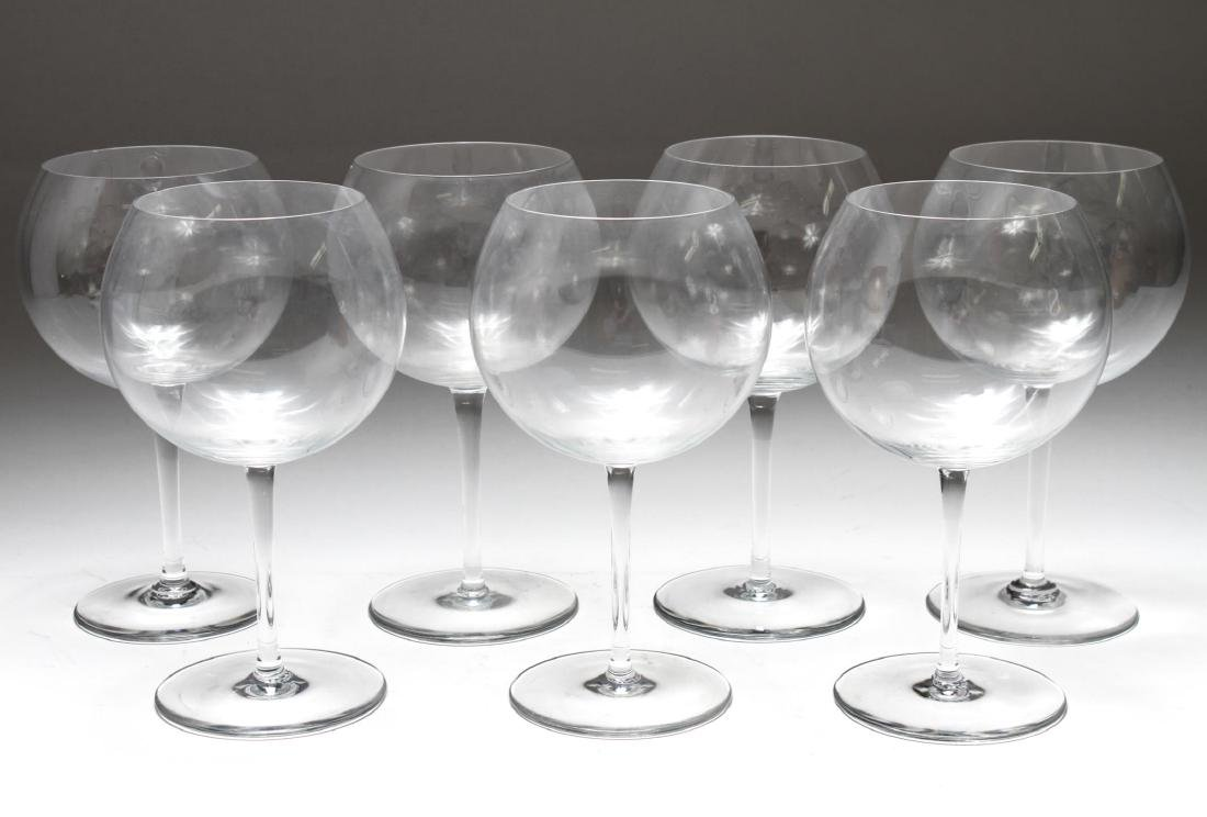 Baccarat Crystal Balloon Wine Glasses, Set of 7