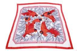 Hermes Silk Scarf Les Perroquets Vintage
