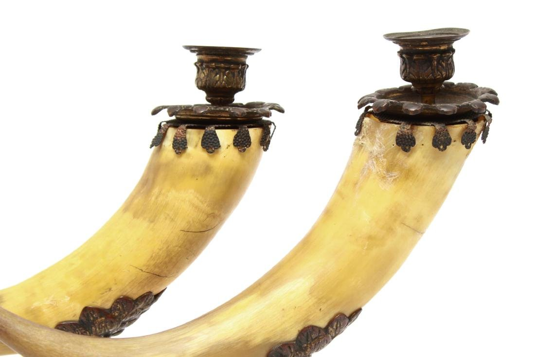 Anthony Redmile Manner Mounted Horn Candle Holders - 7