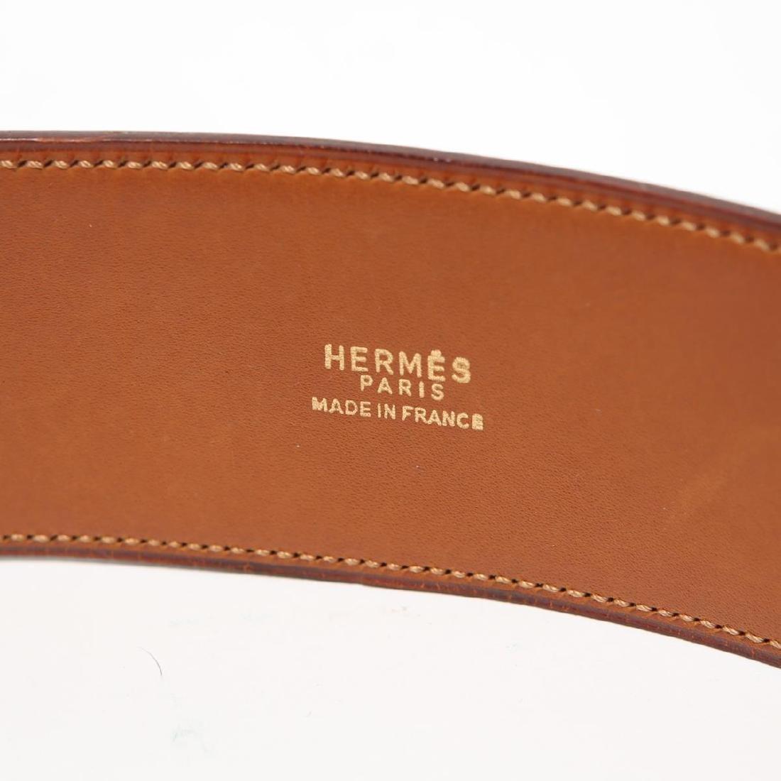Hermes Collier De Chien Lady's Belt, Black Leather - 3