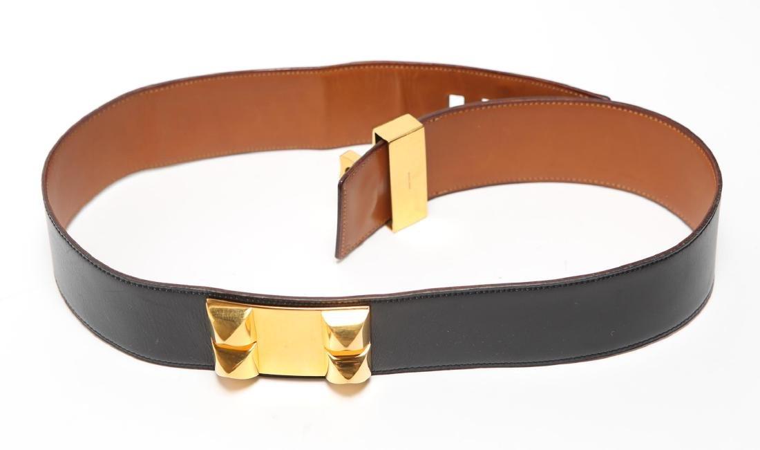 Hermes Collier De Chien Lady's Belt, Black Leather - 4
