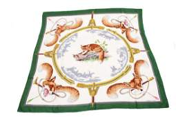 Hermes Silk Scarf Reynard Vintage
