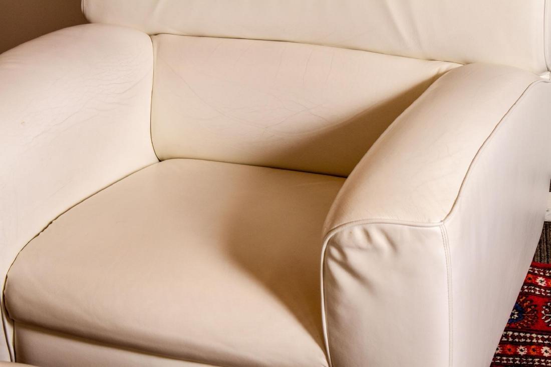 "Poltrona Frau Leather ""Madison"" Chair & Ottoman - 2"