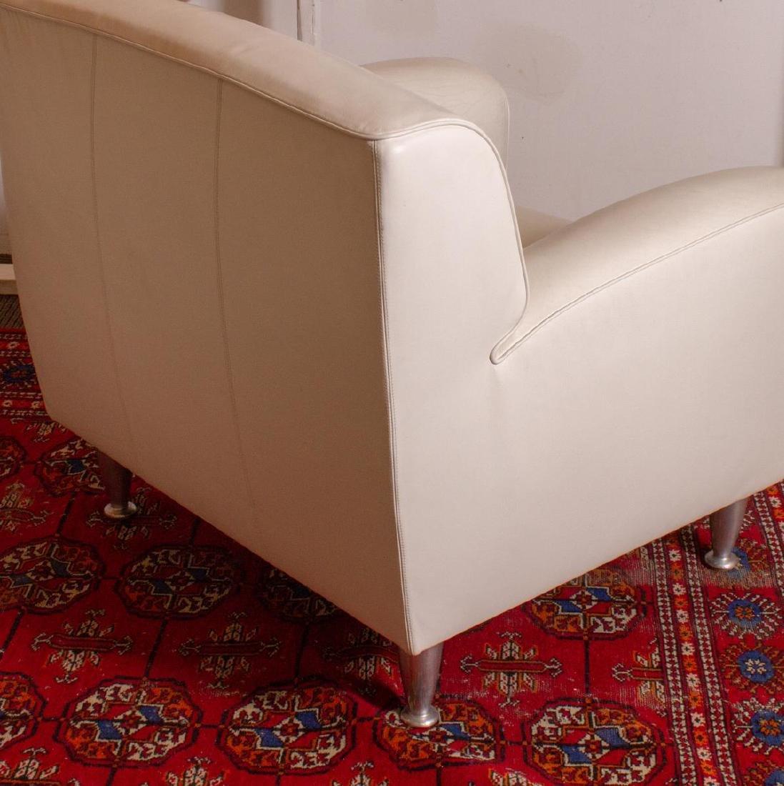"Poltrona Frau Leather ""Madison"" Chair & Ottoman - 4"