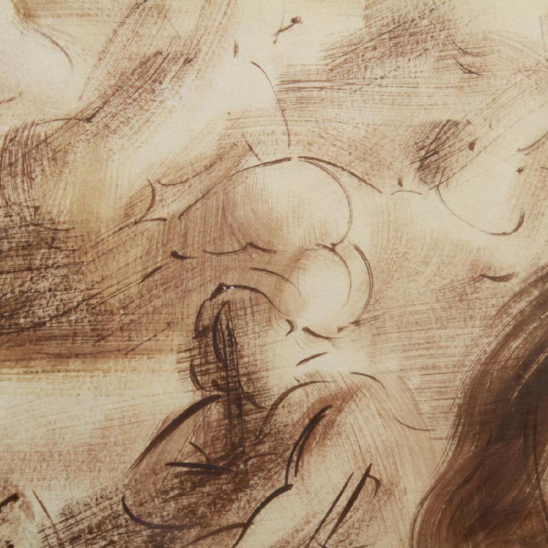Reginald Marsh (attrib.) Figures, Oil on Paper - 4