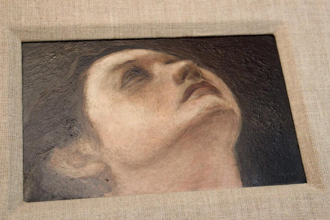 """Julian Edwin Levi """"Head"""" Oil on Board 1934 - 3"""