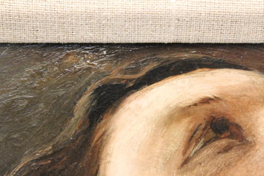 """Julian Edwin Levi """"Head"""" Oil on Board 1934 - 5"""