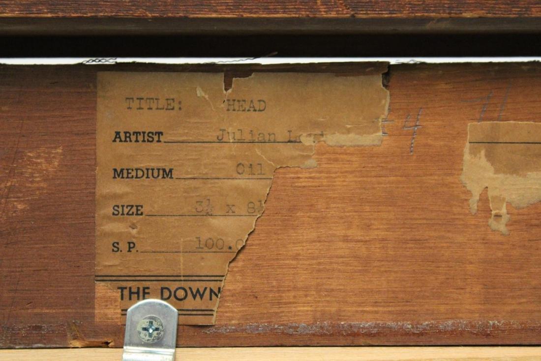 """Julian Edwin Levi """"Head"""" Oil on Board 1934 - 8"""