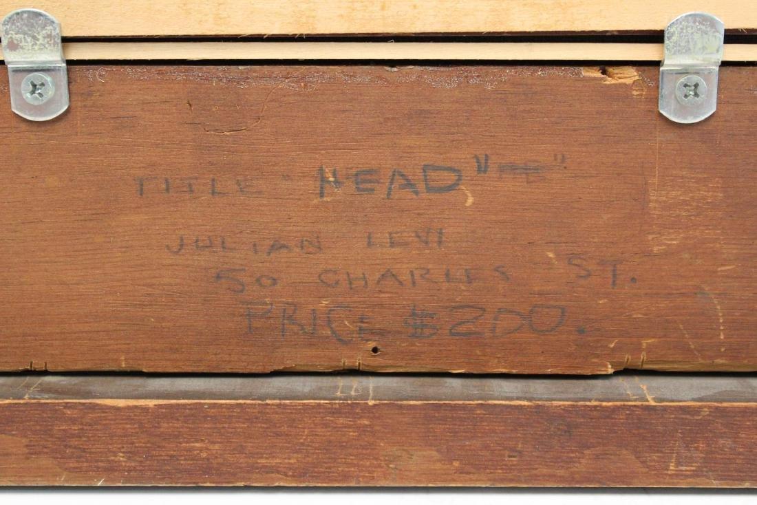 """Julian Edwin Levi """"Head"""" Oil on Board 1934 - 9"""