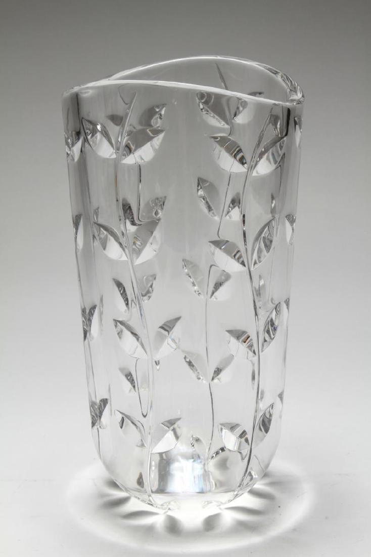"Tiffany & Co. Hand-Cut Crystal ""Floral Vine"" Vase"