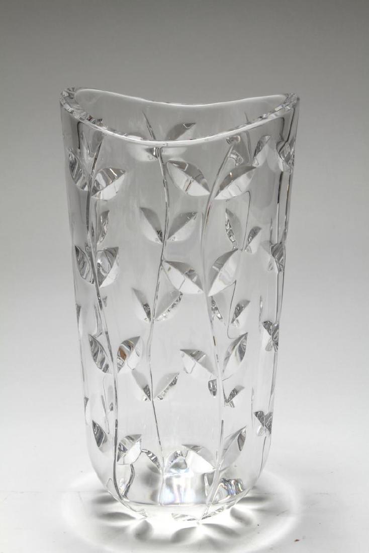 "Tiffany & Co. Hand-Cut Crystal ""Floral Vine"" Vase - 2"